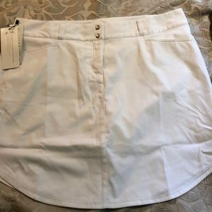 NWT white adidas golf skort